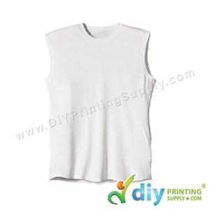 Dryfit Tee (Sleeveless) (White) (L) (160Gsm)