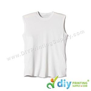 Dryfit Tee (Sleeveless) (White) (M) (160Gsm)