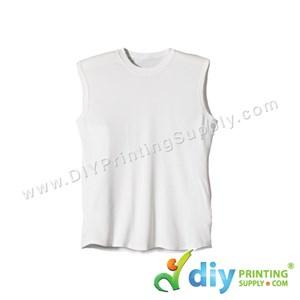 Dryfit Tee (Sleeveless) (White) (S) (160Gsm)