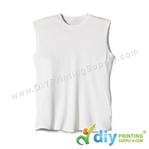 Dryfit Tee (Sleeveless) (White) (XL) (160Gsm)