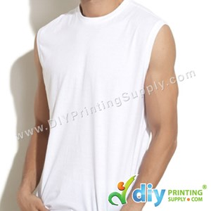 Dryfit Tee (Sleeveless) (White) (XL) (160Gsm)