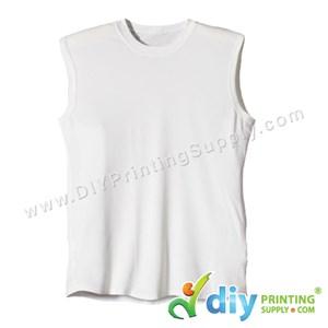 Dryfit Tee (Sleeveless) (White) (XXL) (160Gsm)