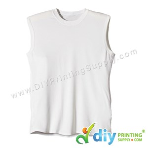 Dryfit Tee (Sleeveless) (White) (XXL) (160Gsm)