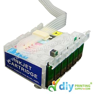 Empty Cartridge 6C With Resetting Chip & Pipeline (90cm) [For Epson T60/1390 CISS]