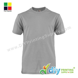 Foursquare Cotton Tee (Round Neck) (Grey) (L) (160Gsm)