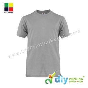 Foursquare Cotton Tee (Round Neck) (Grey) (S) (160Gsm)