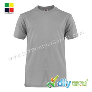 Foursquare Cotton Tee (Round Neck) (Grey) (XL) (160Gsm)