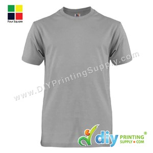 Foursquare Cotton Tee (Round Neck) (Grey) (XXL) (160Gsm)