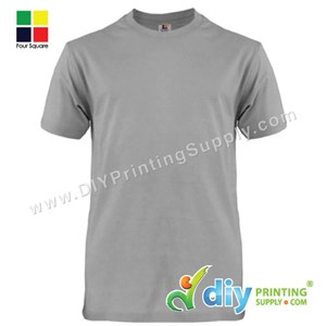 Foursquare Cotton Tee (Round Neck) (Grey) (XXXL) (160Gsm)