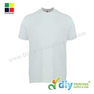 Foursquare Cotton Tee (Round Neck) (White) (S) (160Gsm)