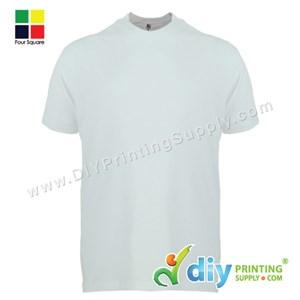 Foursquare Cotton Tee (Round Neck) (White) (XL) (160Gsm)