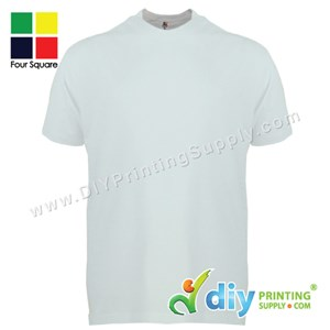 Foursquare Cotton Tee (Round Neck) (White) (FS-WXXXL) (160Gsm)