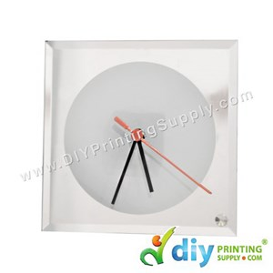 Glass Clock With Stand (Square) (A4) [Without Number]