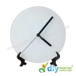 Glass Clock With Stand (Round) (A4) [Without Number]