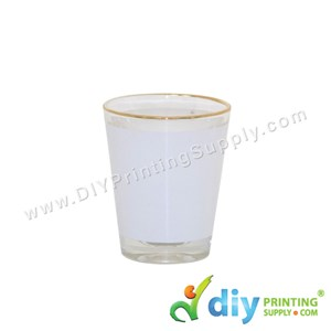 3D Glass Mug (Gold Lining) (Short) (1.5 oz)