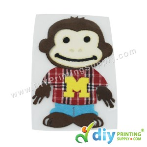 Garment Materials With Clear Transfer Tape (Monkey)