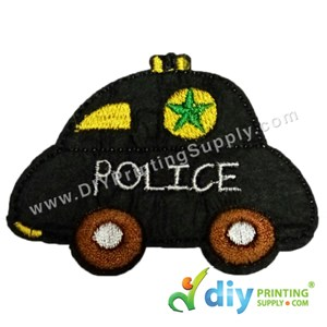 Garment Material (Police Car) (80 X 60mm) [Black]