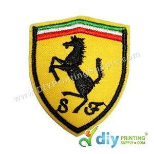 Garment Material (Sport Car) (55mm X 66mm) [Ferrari]