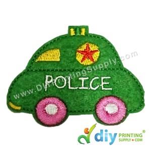 Garment Material (Police Car) (80 X 60mm) [Green]