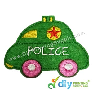Garment Material (Police Car) (80 X 60mm) [Green]