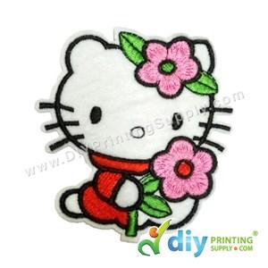 Garment Material (Hello Kitty) (75 X 84mm) [Flower]
