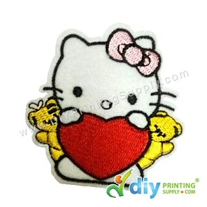 Garment Material (Hello Kitty) (75 X 84mm) [Love]