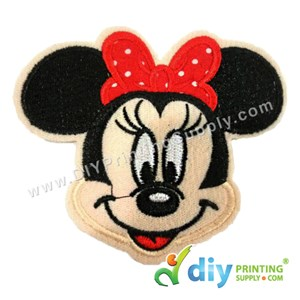 Garment Material (Disney) (90 X 80mm) [Minnie Mouse]