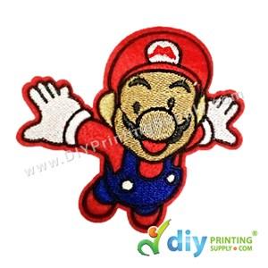 Garment Material (Cartoon) (93 X 86mm) [Mario]