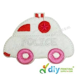 Garment Material (Police Car) (80 X 60mm) [White]