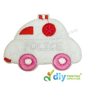 Garment Material (Police Car) (80 X 60mm) [White]