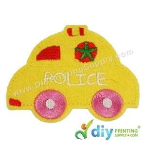 Garment Material (Police Car) (80 X 60mm) [Yellow]