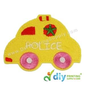 Garment Material (Police Car) (80 X 60mm) [Yellow]