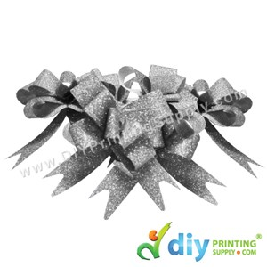 Gift Ribbon (12mm) (Sparkling) (Silver) (10 Pcs/Pkt)