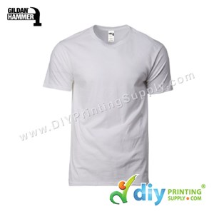 Hammer Cotton Tee (Round Neck) (Grey) (L) (210Gsm)