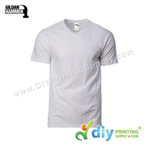 Hammer Cotton Tee (Round Neck) (Grey) (M) (210Gsm)
