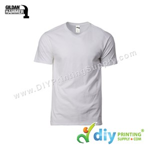 Hammer Cotton Tee (Round Neck) (Grey) (S) (210Gsm)
