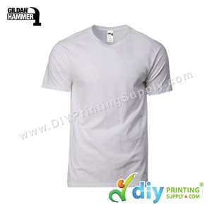 Hammer Cotton Tee (Round Neck) (Grey) (XL) (210Gsm)