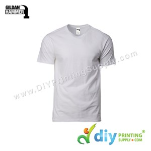 Hammer Cotton Tee (Round Neck) (Grey) (XS) (210Gsm)