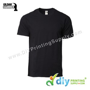 Hammer Cotton Tee (Round Neck) (Black) (L) (210Gsm)