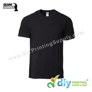 Hammer Cotton Tee (Round Neck) (Black) (M) (210Gsm)