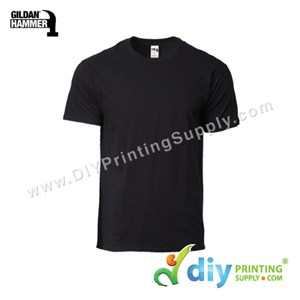 Hammer Cotton Tee (Round Neck) (Black) (S) (210Gsm)