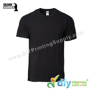 Hammer Cotton Tee (Round Neck) (Black) (XL) (210Gsm)