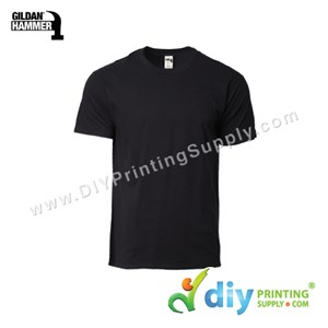 Hammer Cotton Tee (Round Neck) (Black) (XS) (210Gsm)
