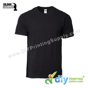Hammer Cotton Tee (Round Neck) (Black) (XXL) (210Gsm)