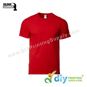 Hammer Cotton Tee (Round Neck) (Red) (M) (210Gsm)