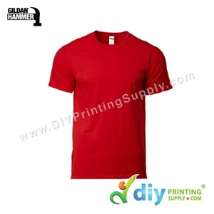 Hammer Cotton Tee (Round Neck) (Red) (S) (210Gsm)
