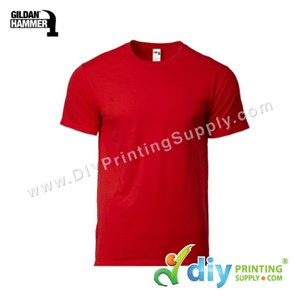 Hammer Cotton Tee (Round Neck) (Red) (XL) (210Gsm)