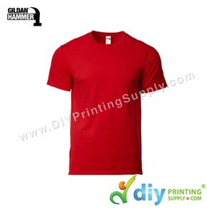 Hammer Cotton Tee (Round Neck) (Red) (XS) (210Gsm)