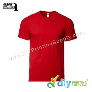 Hammer Cotton Tee (Round Neck) (Red) (XXL) (210Gsm)