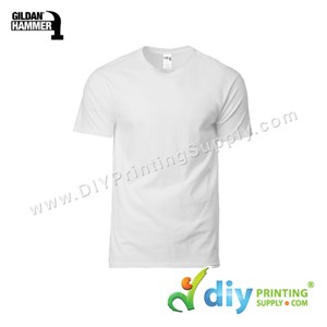 Hammer Cotton Tee (Round Neck) (White) (XS) (210Gsm)